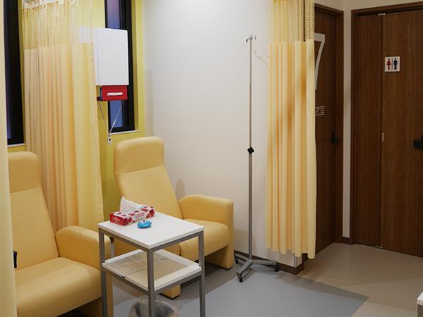 内視鏡検査前後のリカバリー室